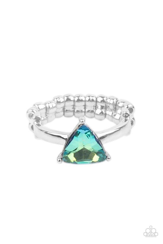 Tenacious Twinkle - Green - Paparazzi Ring Image
