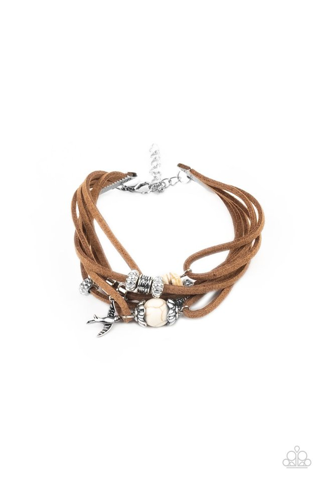 Canyon Flight - White - Paparazzi Bracelet Image