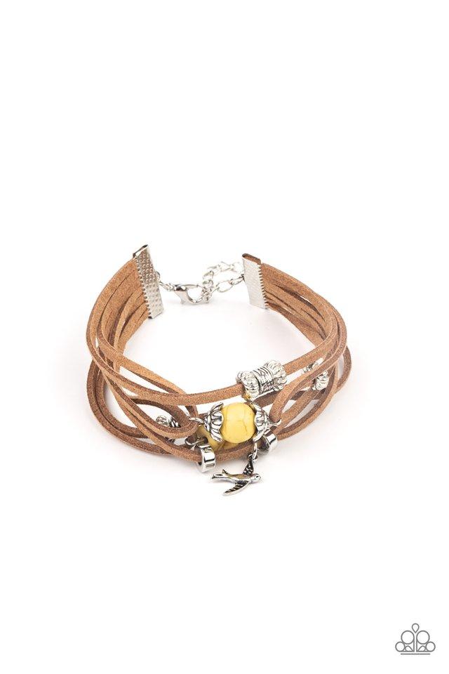 Canyon Flight - Yellow - Paparazzi Bracelet Image