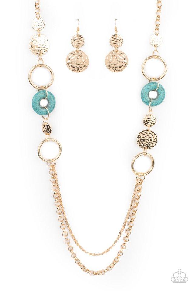 Grounded Glamour - Gold - Paparazzi Necklace Image