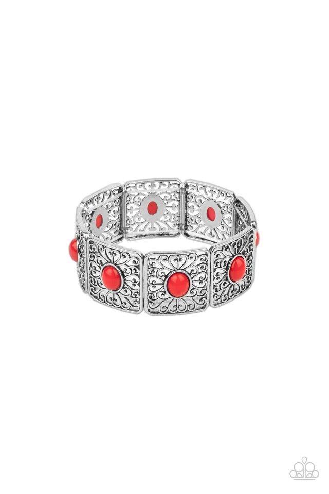 Cakewalk Dancing - Red - Paparazzi Bracelet Image