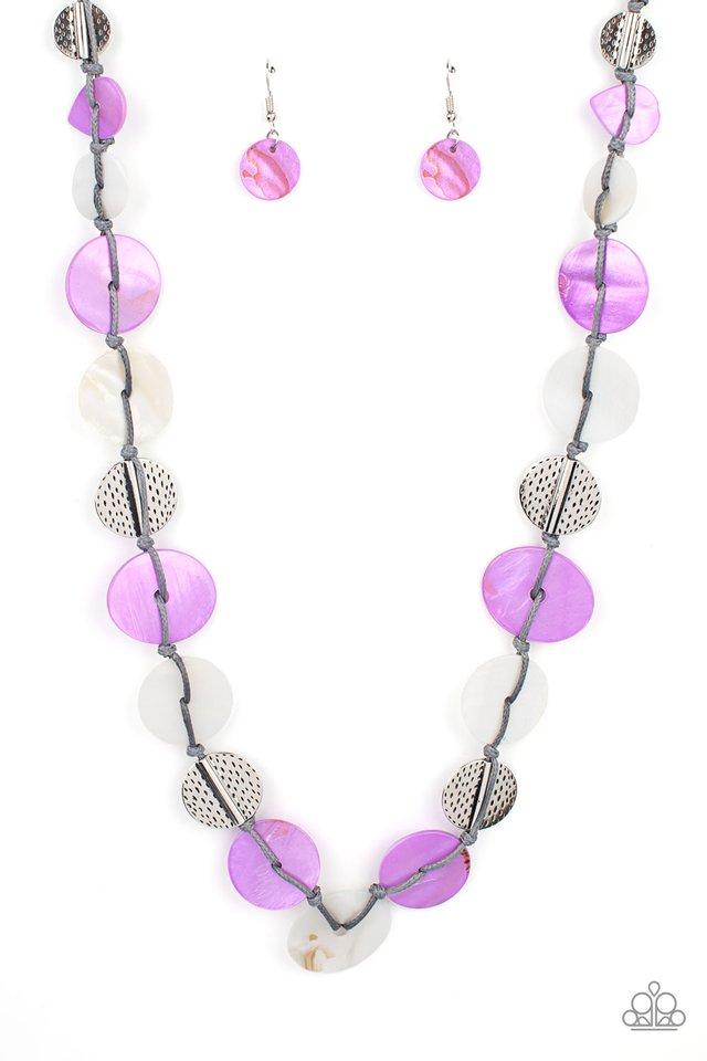 Seashore Spa - Purple - Paparazzi Necklace Image