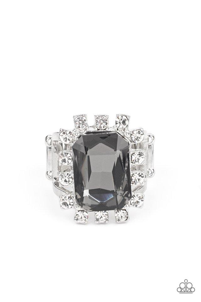 Galactic Glamour - Silver - Paparazzi Ring Image