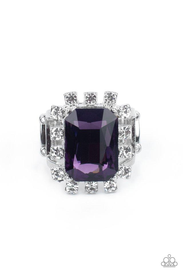 Galactic Glamour - Purple - Paparazzi Ring Image