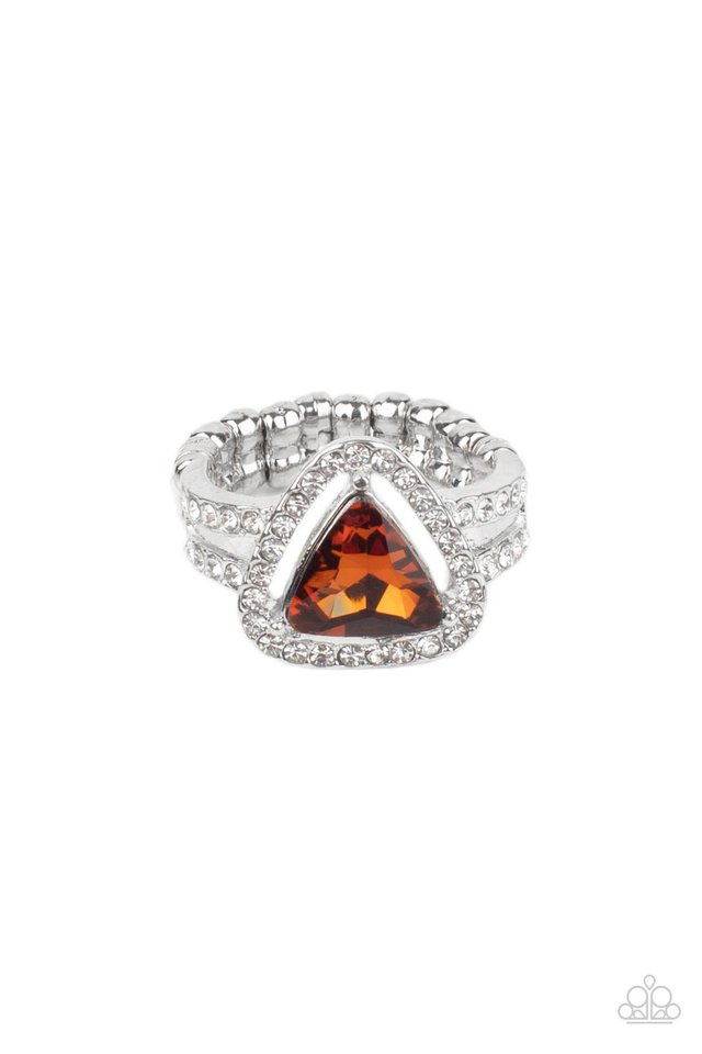 Elevated Engagement - Brown - Paparazzi Ring Image