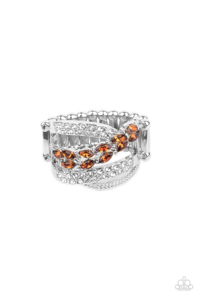 Emulating Elegance - Brown - Paparazzi Ring Image
