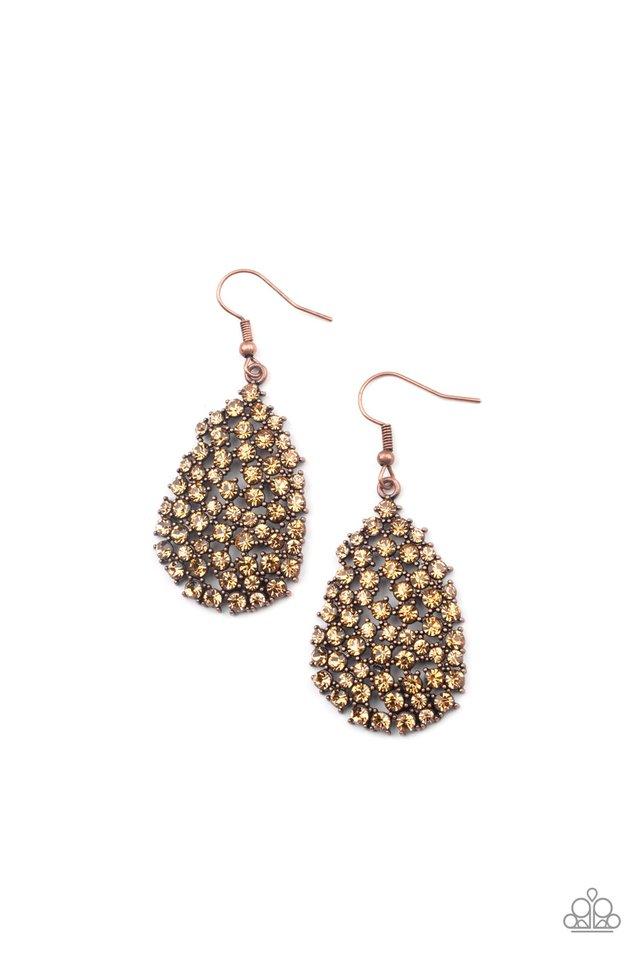 Daydreamy Dazzle - Copper - Paparazzi Earring Image