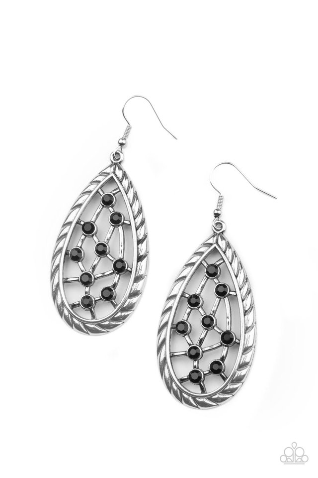 Industrial Incandescence - Black - Paparazzi Earring Image