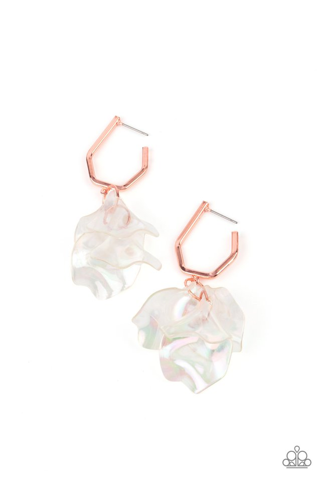 Jaw-Droppingly Jelly - Copper - Paparazzi Earring Image