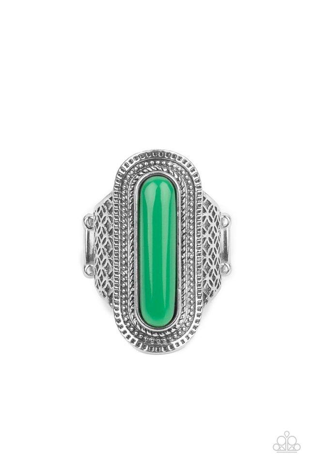 Dubai Distraction - Green - Paparazzi Ring Image