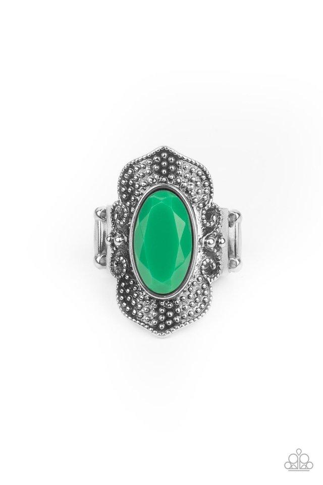 Taj Mahal Trendsetter - Green - Paparazzi Ring Image