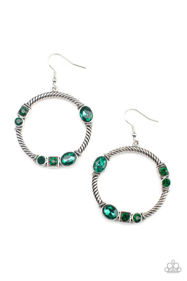 Glamorous Garland - Green - Paparazzi Earring Image