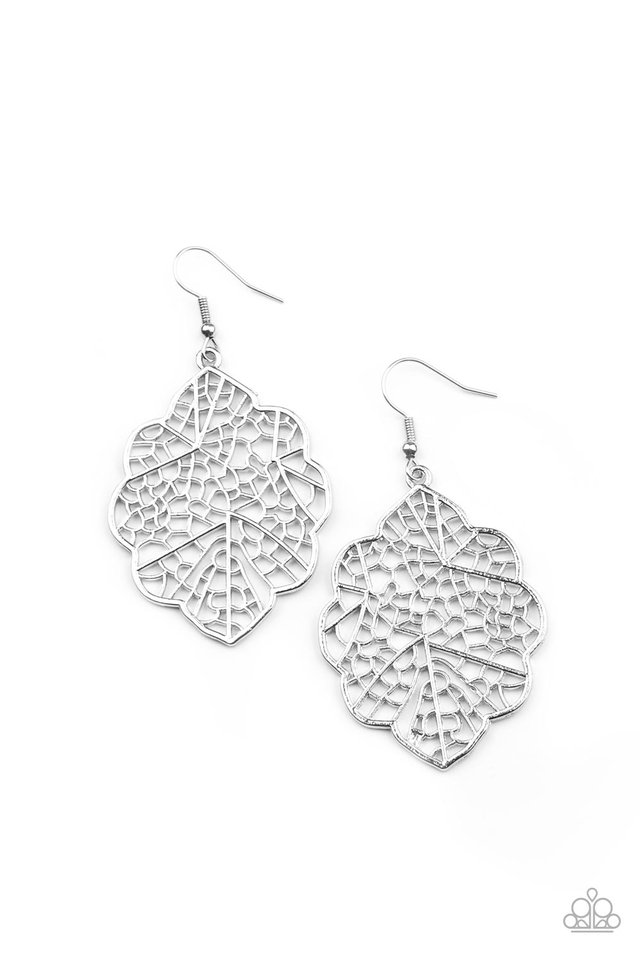 Meadow Mosaic - Silver - Paparazzi Earring Image