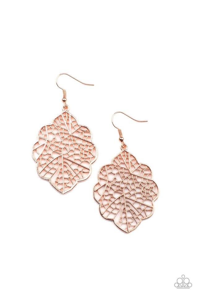 Meadow Mosaic - Copper - Paparazzi Earring Image