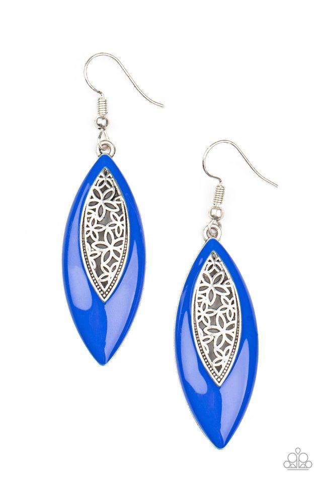 Venetian Vanity - Blue - Paparazzi Earring Image