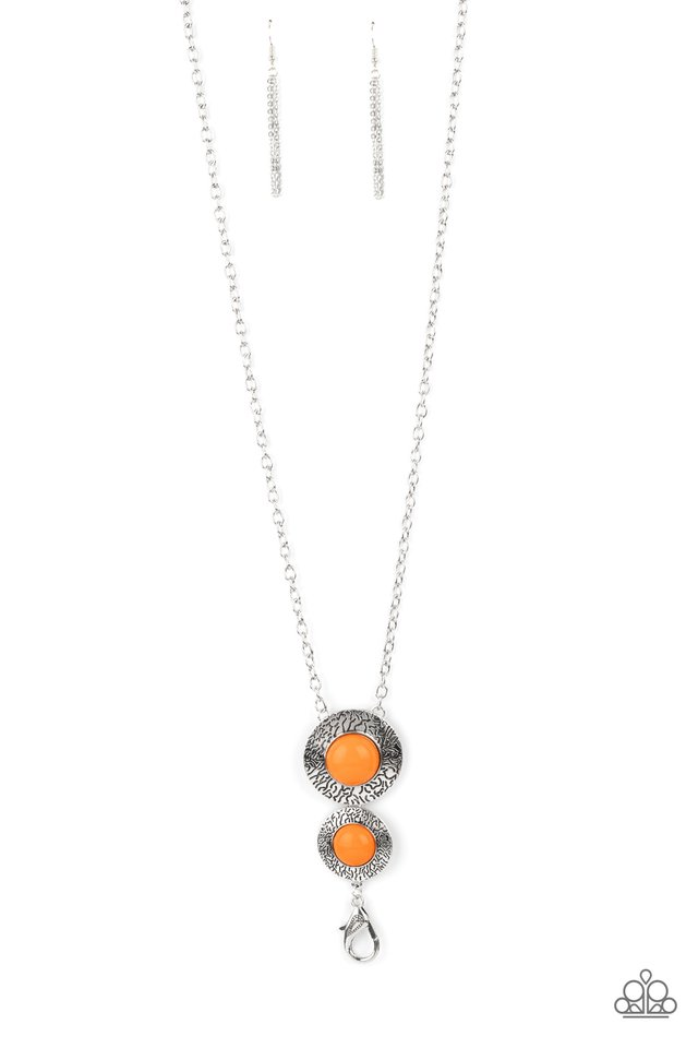 Abstract Artistry - Orange - Paparazzi Necklace Image