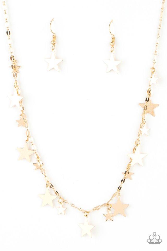Starry Shindig - Gold - Paparazzi Necklace Image
