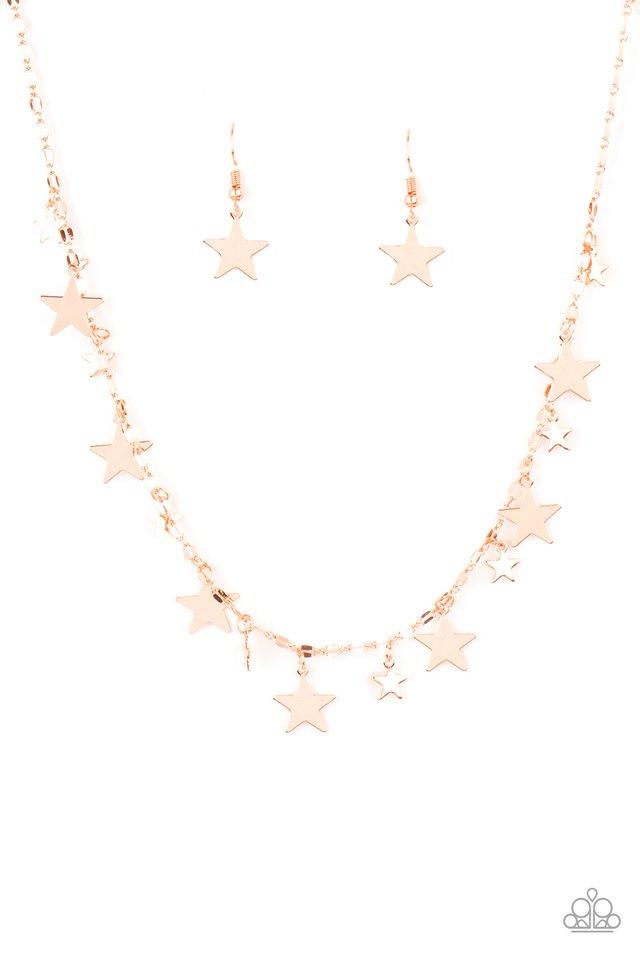 Starry Shindig - Copper - Paparazzi Necklace Image