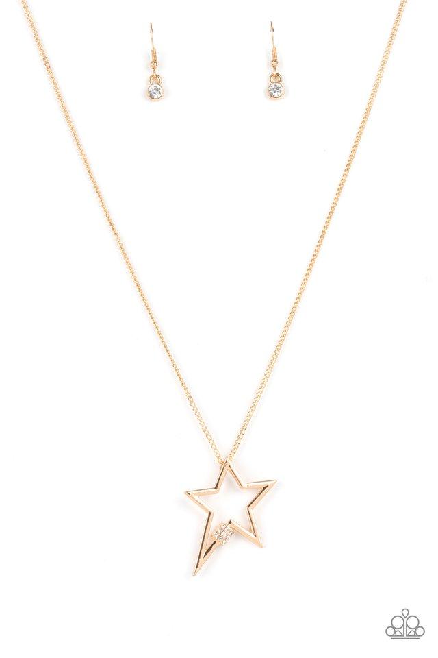 Light Up The Sky - Gold - Paparazzi Necklace Image