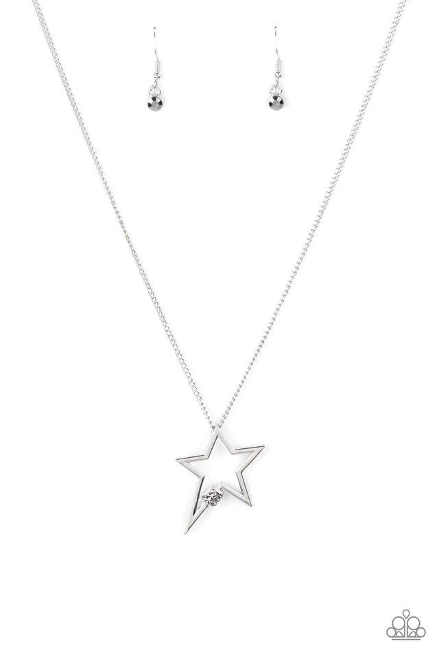 Light Up The Sky - Silver - Paparazzi Necklace Image