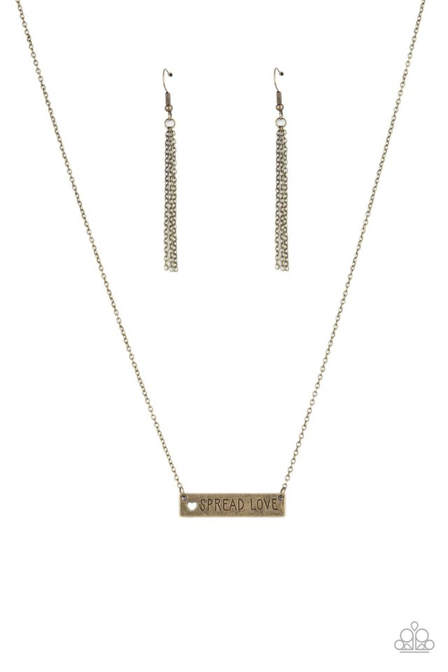 Spread Love - Brass - Paparazzi Necklace Image