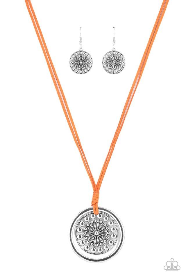 One MANDALA Show - Orange - Paparazzi Necklace Image