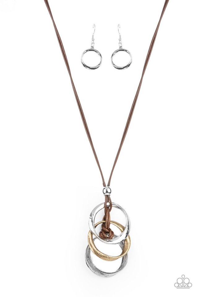 Harmonious Hardware - Brown - Paparazzi Necklace Image