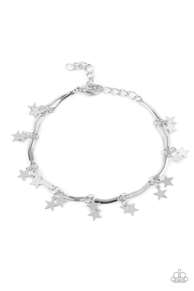 Party in the USA - Silver - Paparazzi Bracelet Image