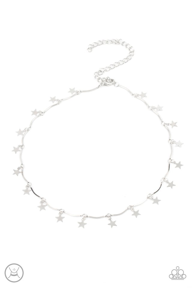 Little Miss Americana - Silver - Paparazzi Necklace Image
