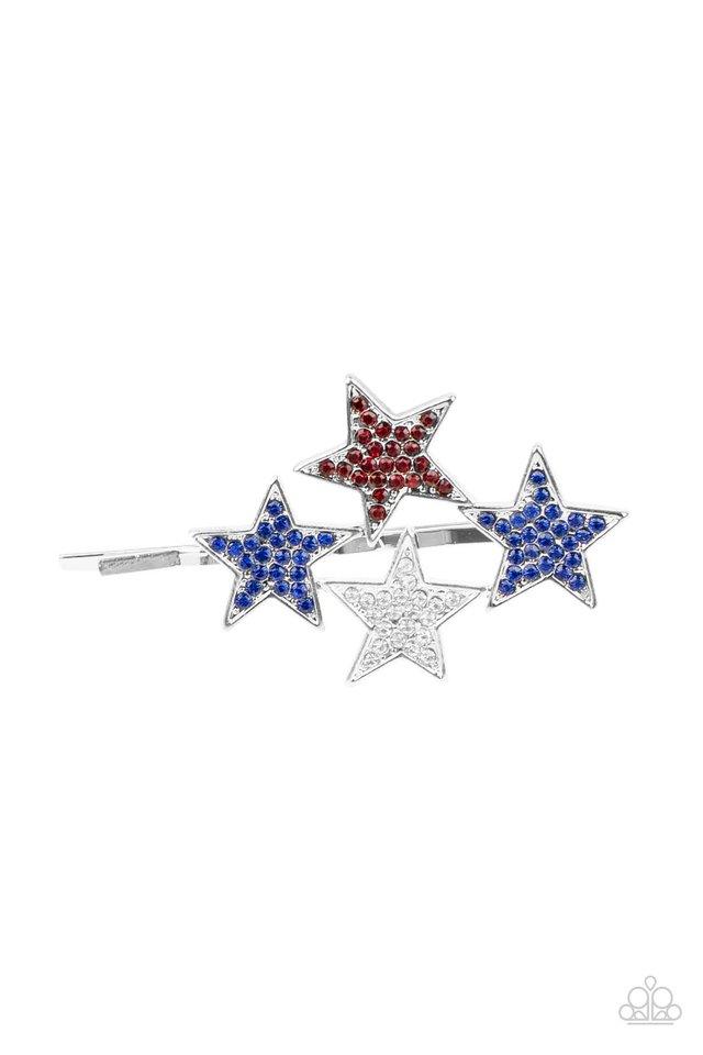 Stellar Celebration - Blue - Paparazzi Hair Accessories Image