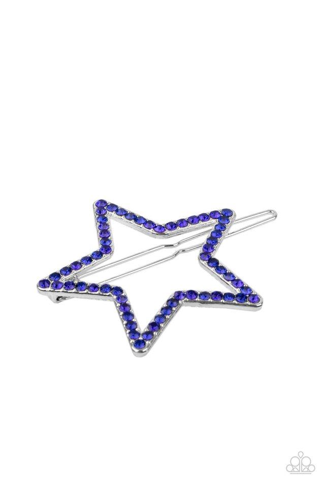 Stellar Standout - Blue - Paparazzi Hair Accessories Image