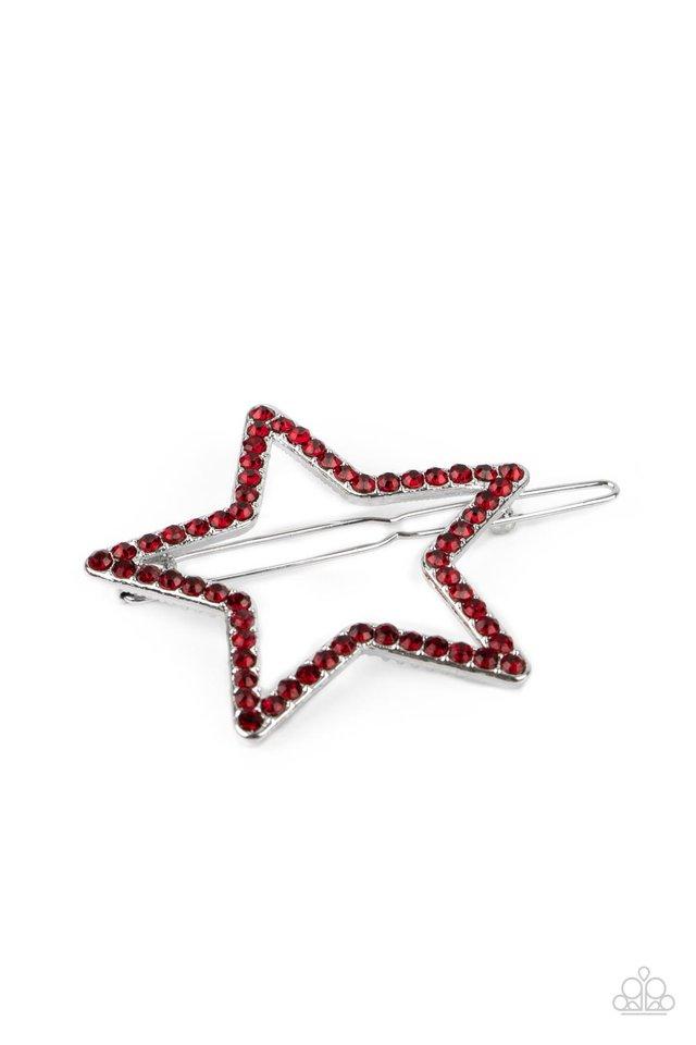 Stellar Standout - Red - Paparazzi Hair Accessories Image