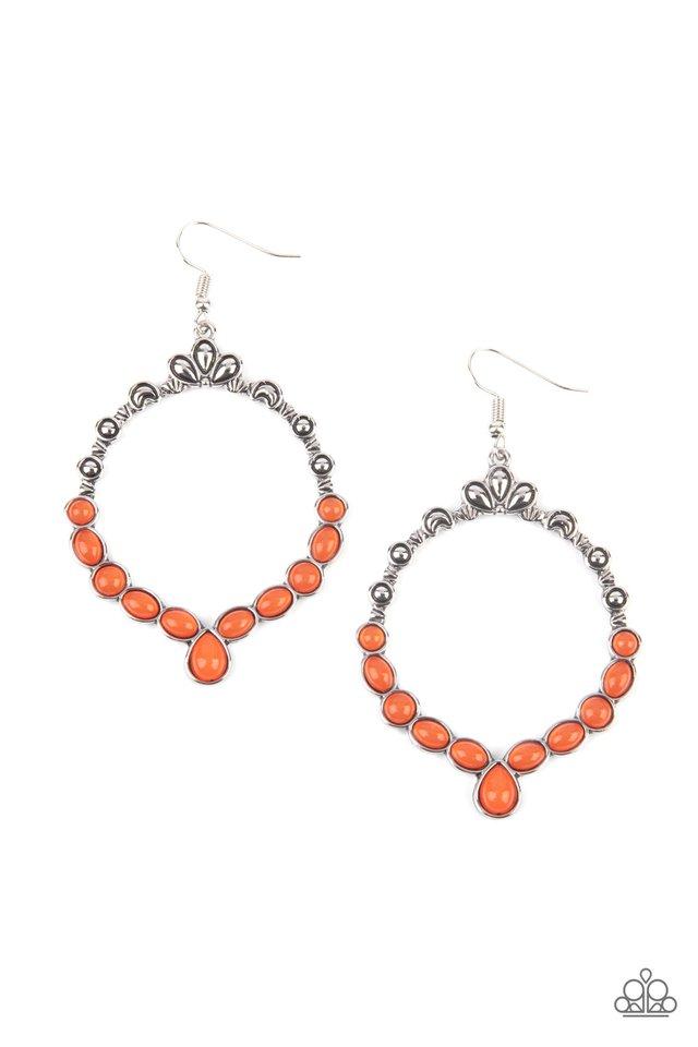 Thai Treasures - Orange - Paparazzi Earring Image