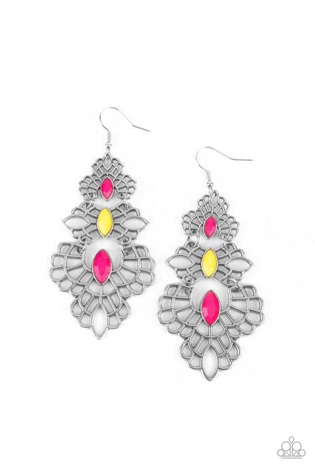 Flamboyant Frills - Mulit - Paparazzi Earring Image