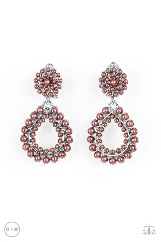 Discerning Droplets - Brown - Paparazzi Earring Image