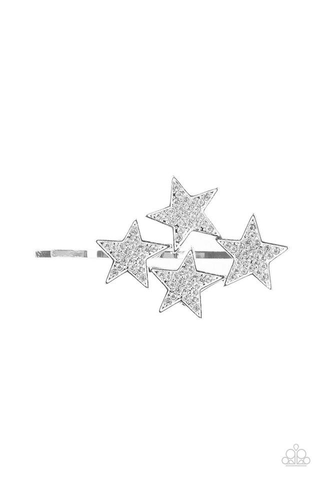 Stellar Celebration - White - Paparazzi Hair Accessories Image