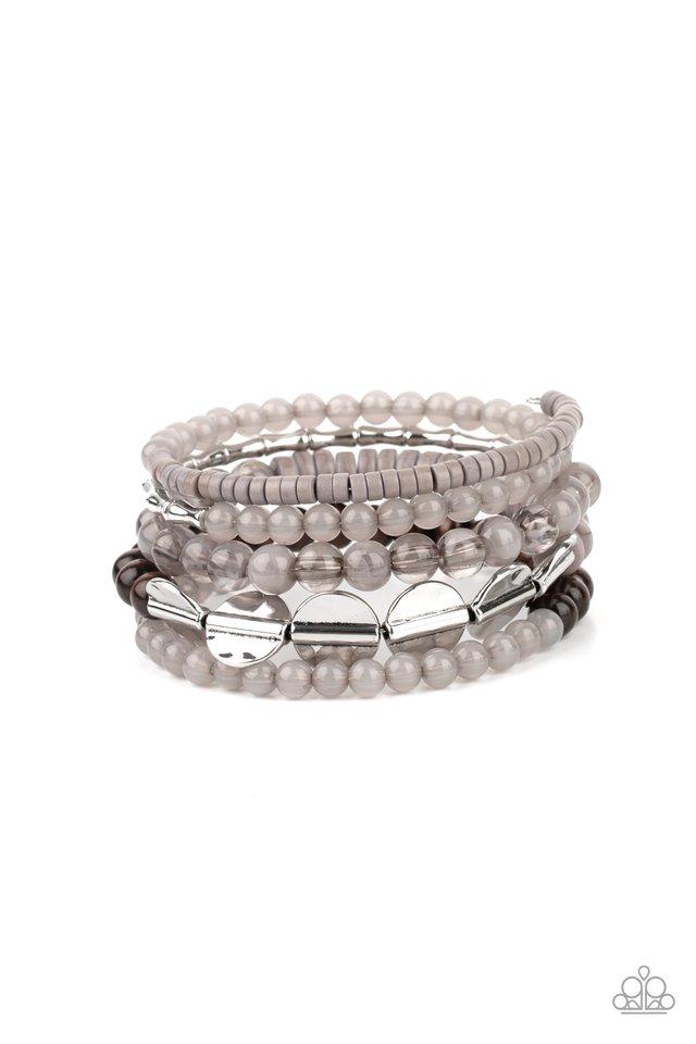 Free-Spirited Spiral - Silver - Paparazzi Bracelet Image