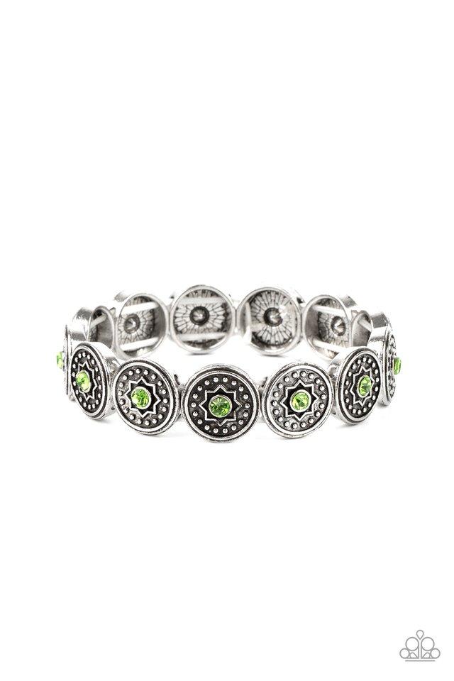 Colorfully Celestial - Green - Paparazzi Bracelet Image