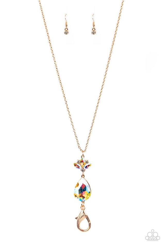 Divine Dazzle - Rose Gold - Paparazzi Necklace Image