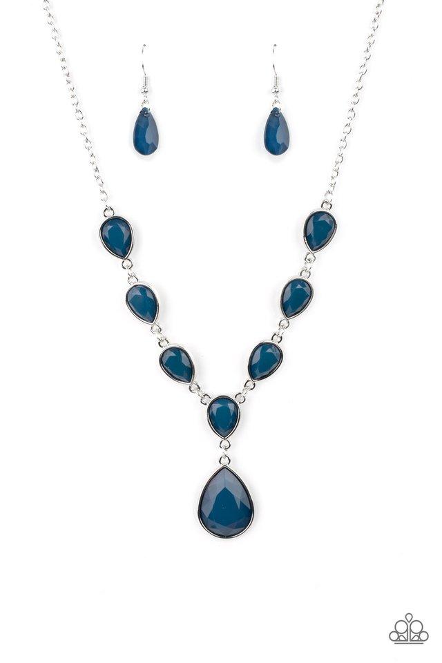 Party Paradise - Blue - Paparazzi Necklace Image