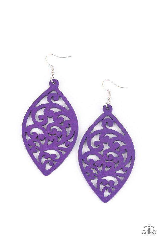 Coral Garden - Purple - Paparazzi Earring Image