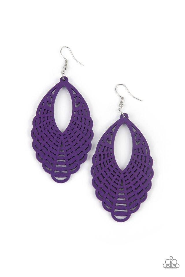 Tahiti Tankini - Purple - Paparazzi Earring Image