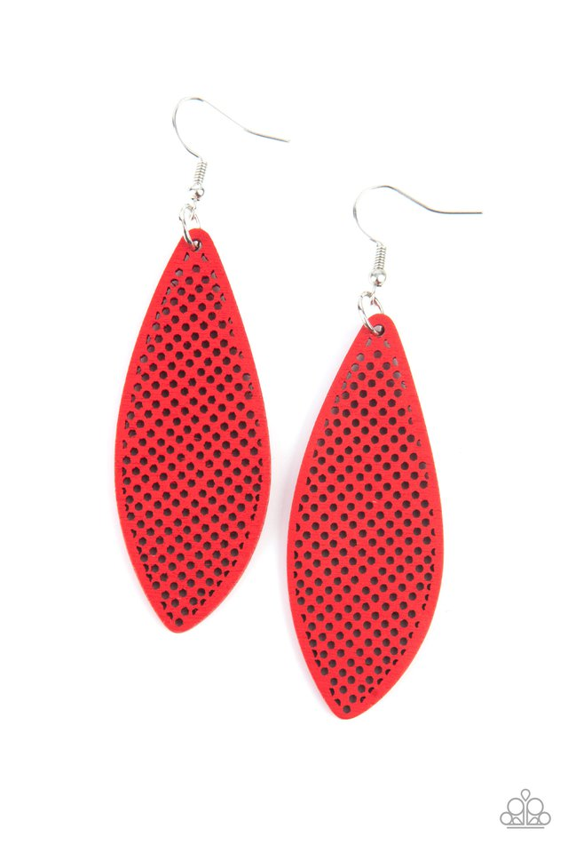 Surf Scene - Red - Paparazzi Earring Image
