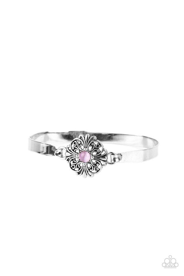 Whimsically Welcoming - Purple - Paparazzi Bracelet Image