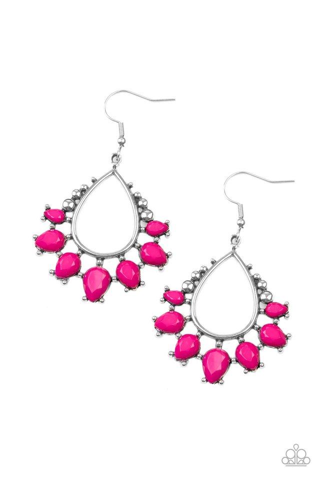 Flamboyant Ferocity - Pink - Paparazzi Earring Image