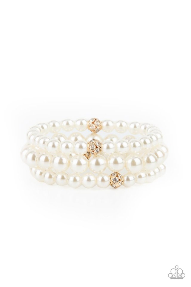 Here Comes The Heiress - Gold - Paparazzi Bracelet Image