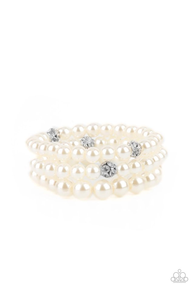 Here Comes The Heiress - White - Paparazzi Bracelet Image