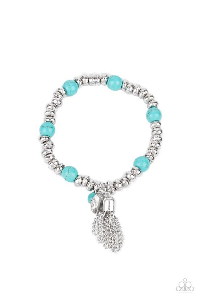 Whimsically Wanderlust - Blue - Paparazzi Bracelet Image