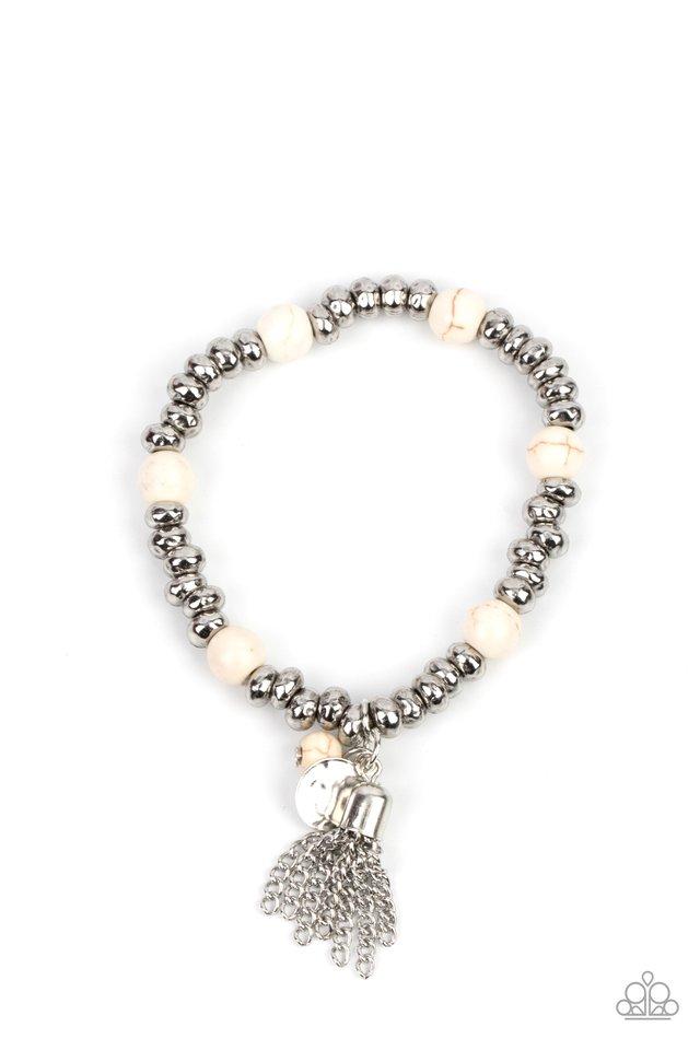 Whimsically Wanderlust - White - Paparazzi Bracelet Image