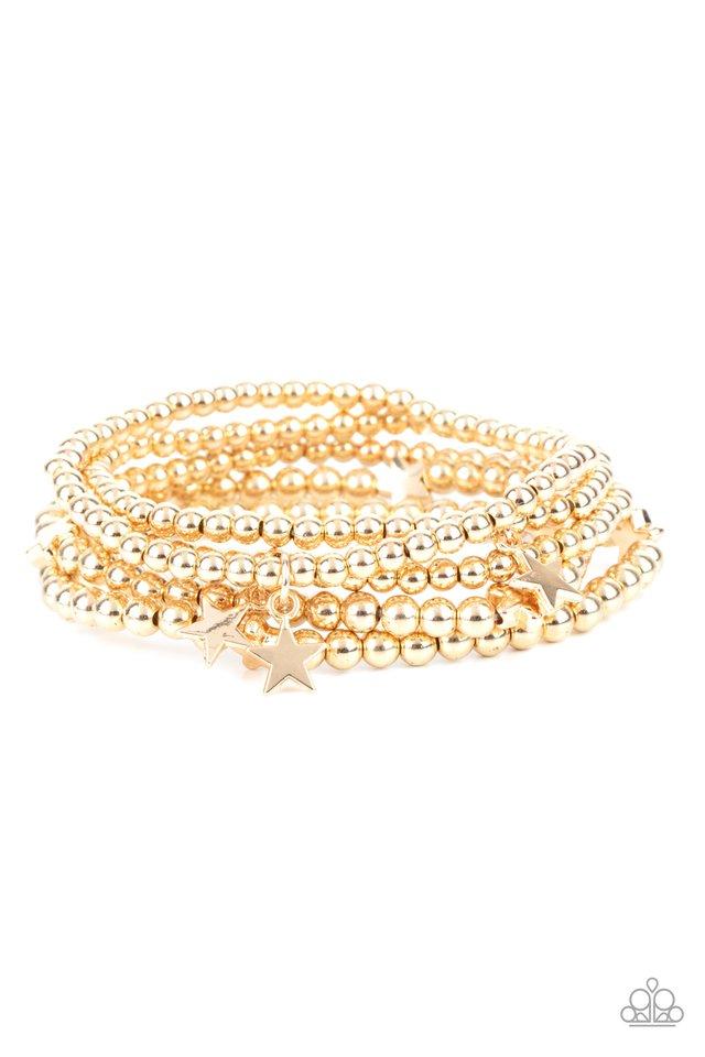 American All-Star - Gold - Paparazzi Bracelet Image